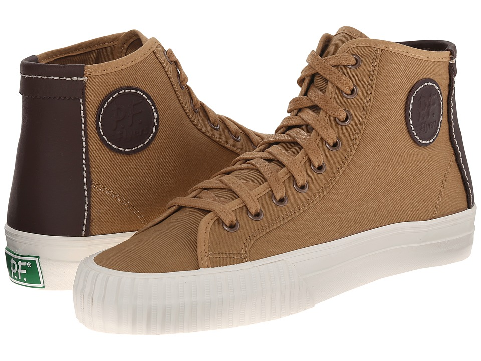PF Flyers Center Hi Veneer Twill/Leather Mens Shoes
