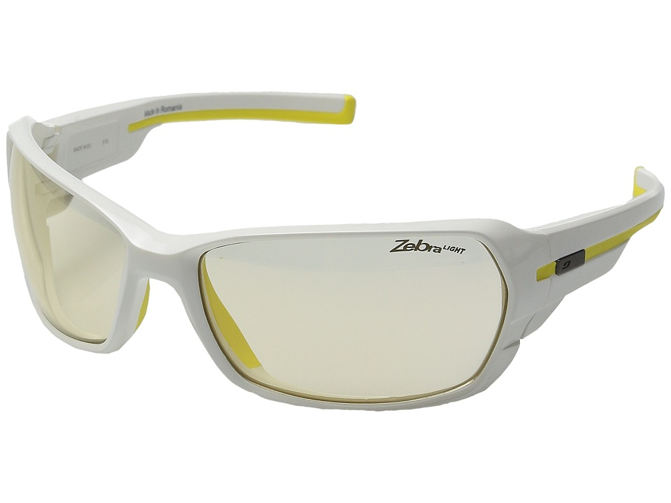 Julbo Eyewear Dirt 2.0 Performance Sunglasses Shiny White/Yellow Sport Sunglasses