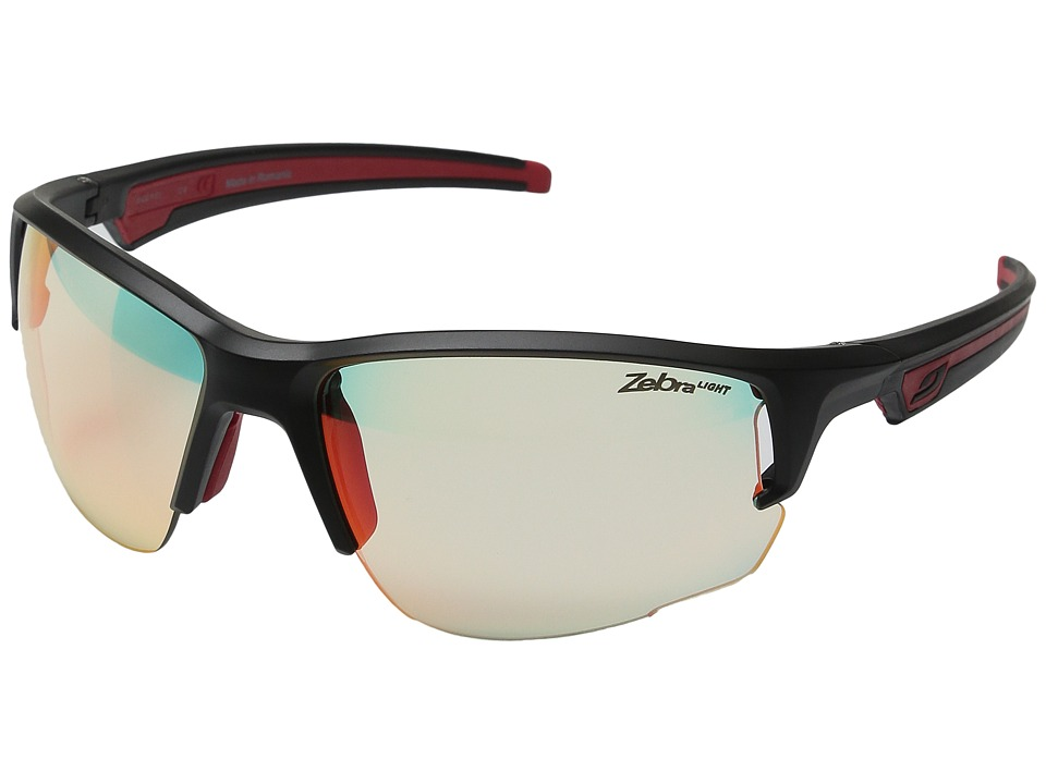 Julbo Eyewear Ventrui Performance Sunglasses Matte Black/Red Sport Sunglasses