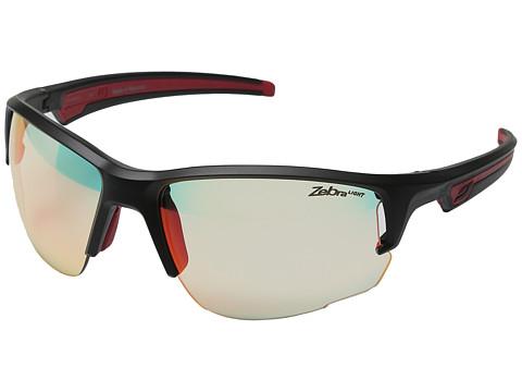 Julbo Eyewear Venturi Performance Sunglasses - Matte Black/Red With Zebra Light Photochromic Lens