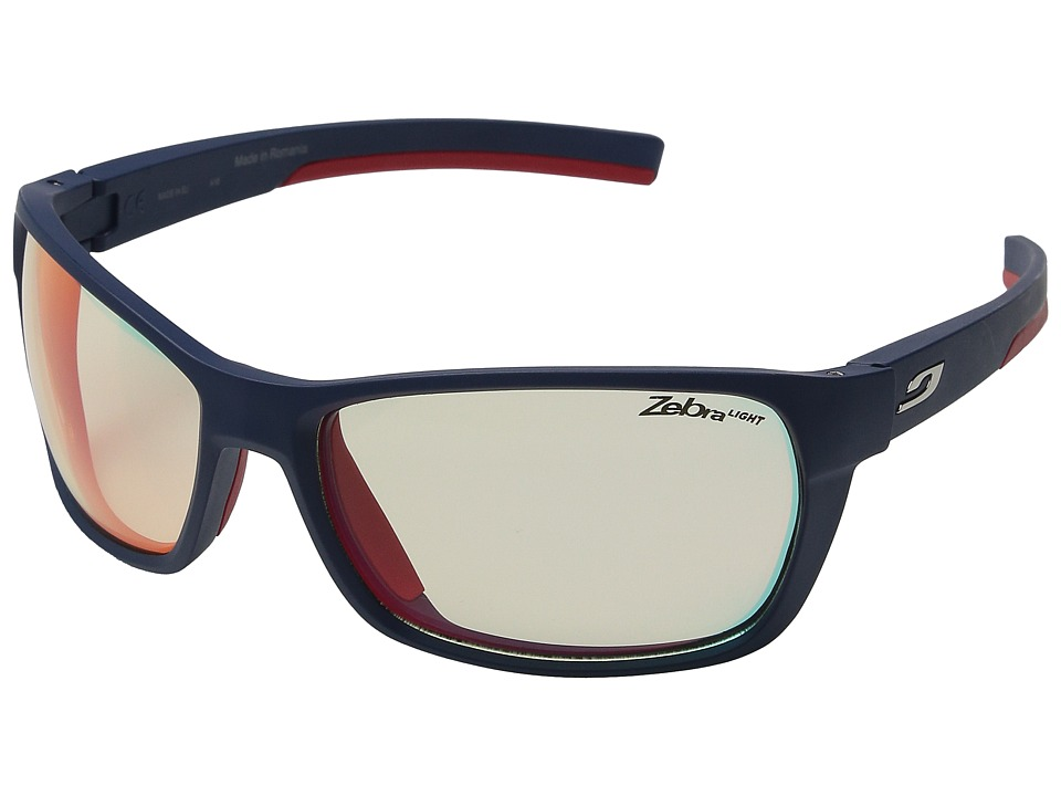 Julbo Eyewear Blast Performance Sunglasses Dark Blue/Red Sport Sunglasses