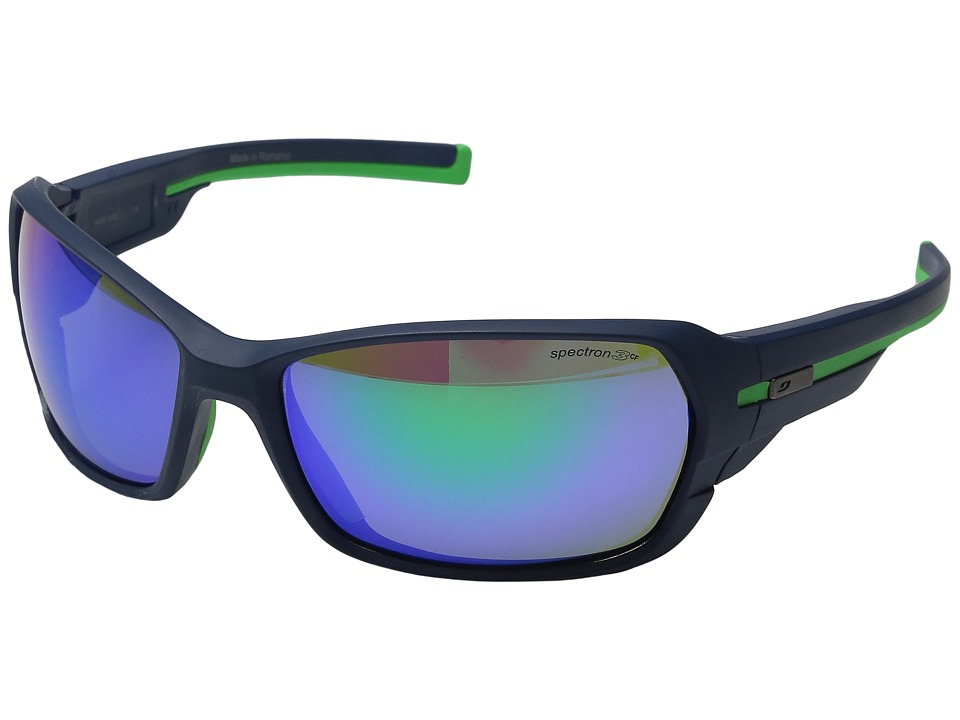 Julbo Eyewear Dirt 2.0 Performance Sunglasses Matte Dark Blue/Green Sport Sunglasses