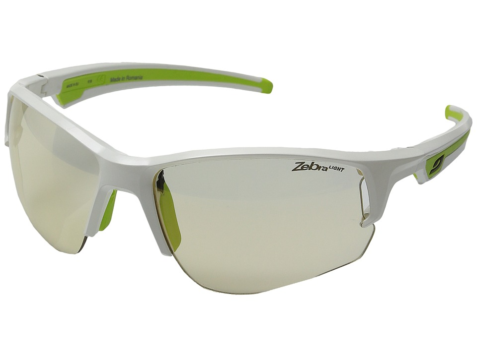 Julbo Eyewear Ventrui Performance Sunglasses Shiny White/Green Sport Sunglasses