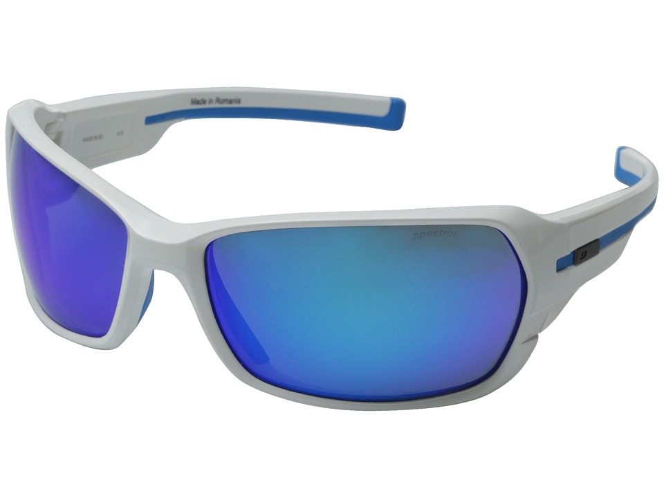 Julbo Eyewear Dirt 2.0 Performance Sunglasses Shiny White/Blue Sport Sunglasses
