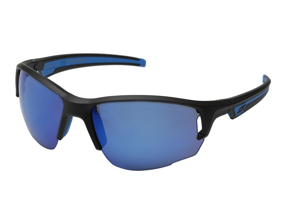 Julbo Eyewear Ventrui Performance Sunglasses Matte Black/Blue Sport Sunglasses