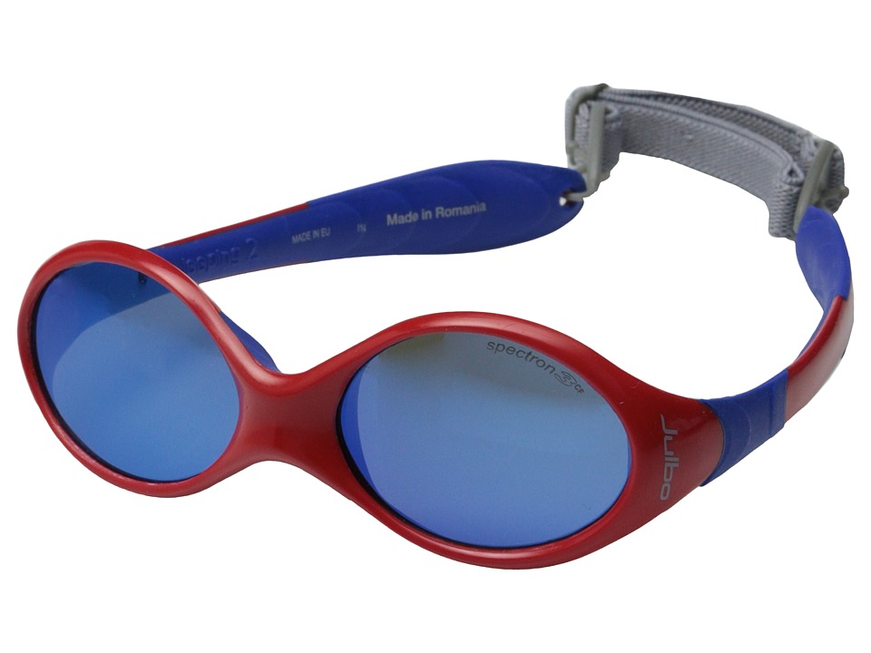 Julbo Eyewear - Kids Looping 2 Sunglasses (Ages 12-24 Months Old) (Red/Blue with Spectron 3 Color Flash Lens) Athletic Performance Sport Sunglasses
