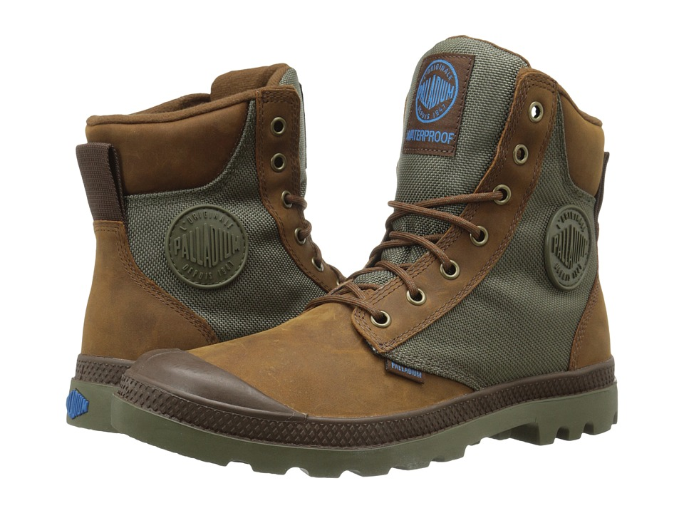 Palladium Pampa Sport Cuff WPN (Bridle Brown/Moon Mist) Boots