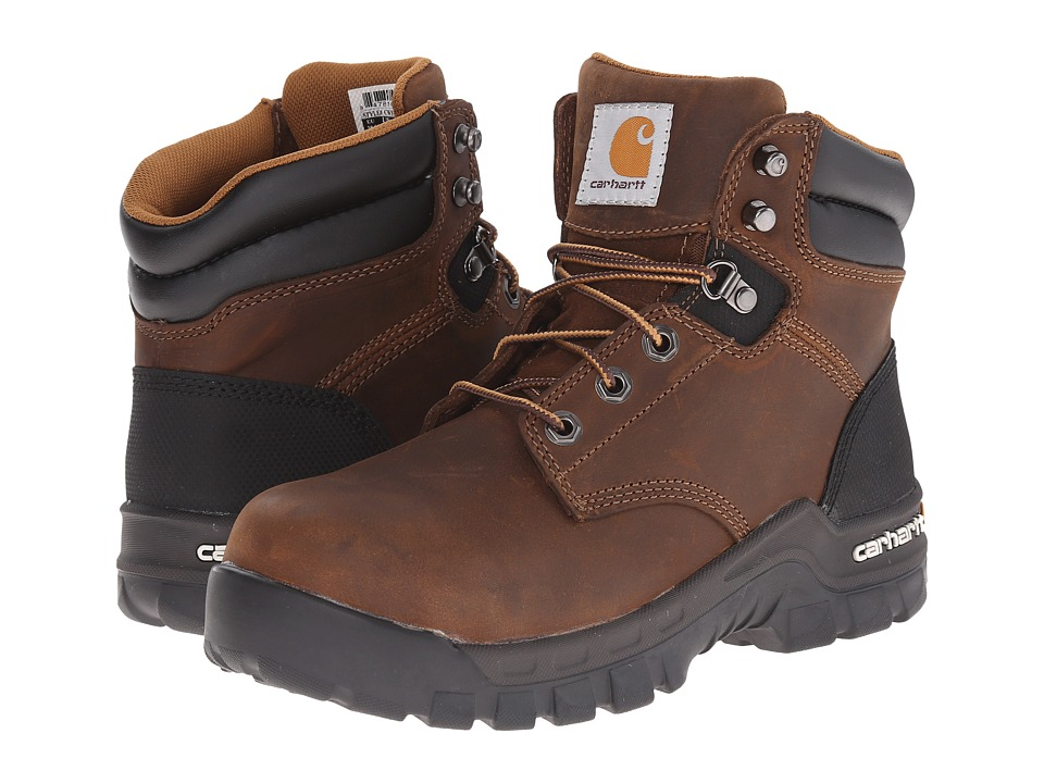 Carhartt 6 Inch Brown Rugged Flex Work Boot Brown Oil Tanned Leather Womens Work Boots