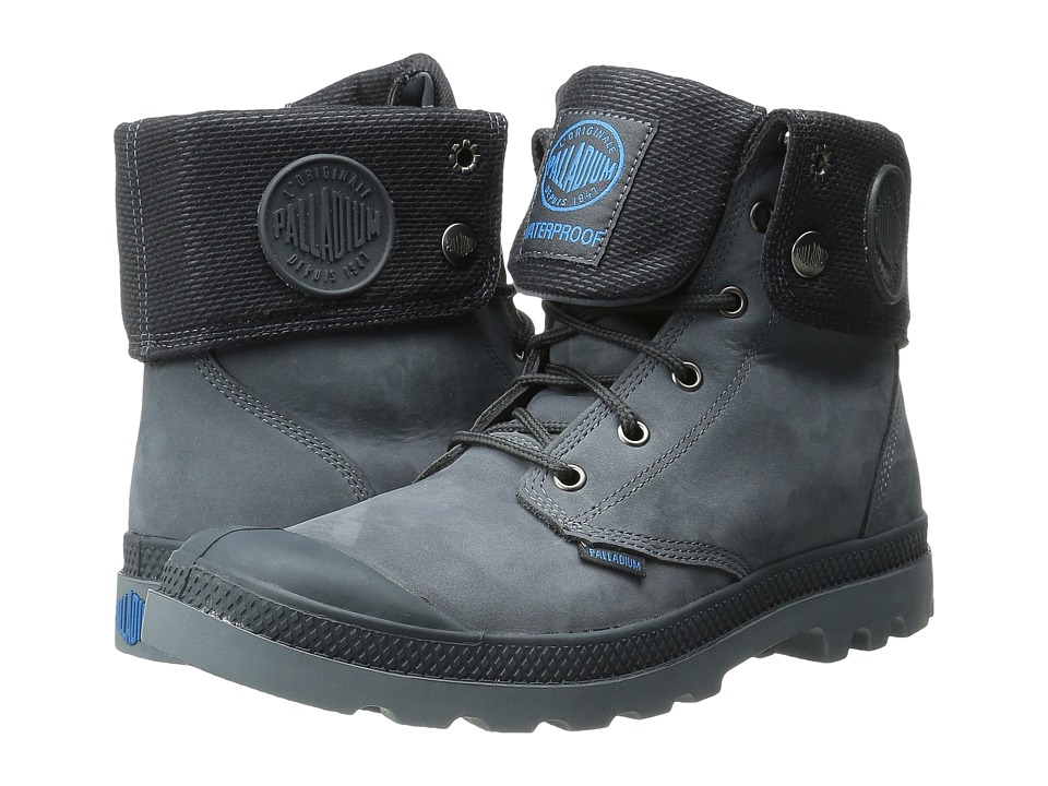 Palladium Baggy Leather Gusset (Anthracite/Turbulence) Men