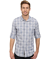 DKNY Jeans - Long Sleeve Roll Tab Neppy Plaid Shirt/Casual Wash