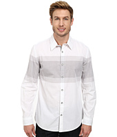 DKNY Jeans - Long Sleeve Engineered Chest Stripe Shirt/Enzyme Wash