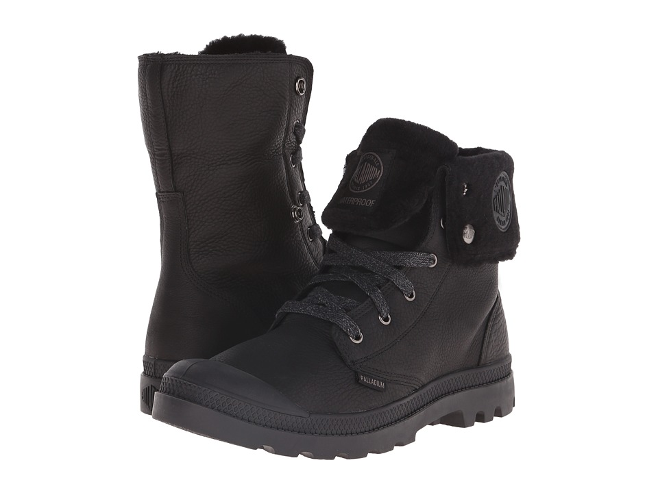 Palladium Baggy Leather Gusset S Black Mens Boots
