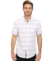 DKNY Jeans - Short Sleeve Slub Horizontal Stripe Shirt/Casual Wash