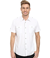 DKNY Jeans - Short Sleeve 2-Pocket Military Solid Poplin Shirt