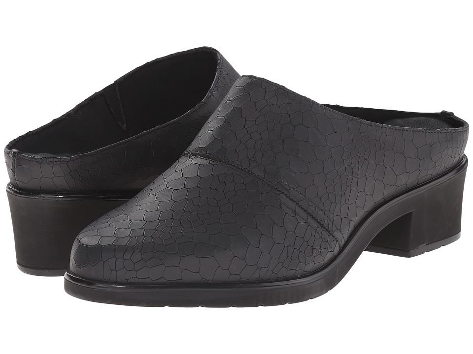 Walking Cradles Caden Black Baby Matte Croc Womens Clog Shoes
