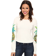 Nicole Miller - Pineapple Intarsia Long Sleeve Knit