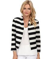 Nicole Miller - Bold Stripe Cropped Jacket