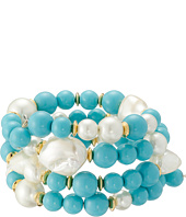 Kenneth Jay Lane - Gold Tone Beads Coil Bracelet