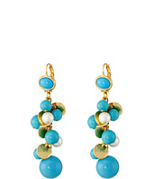 Kenneth Jay Lane - Gold Tone Cluster Bead Earrings