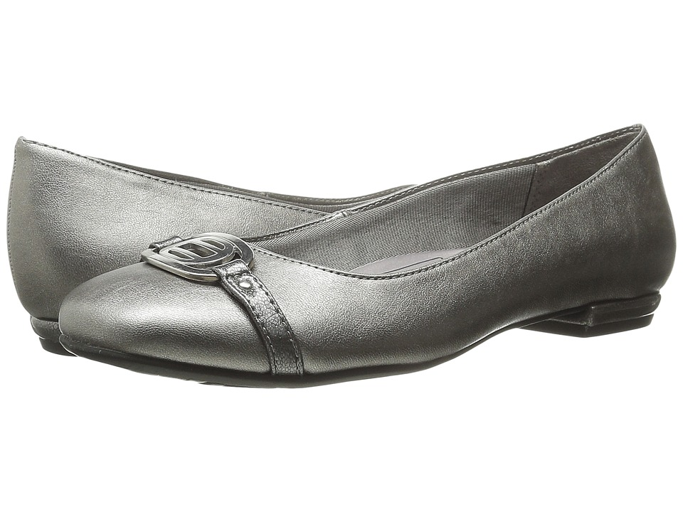 LifeStride Blissful Pewter Womens Slip on Dress Shoes