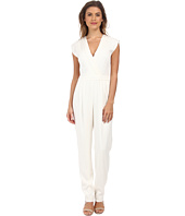 Nicole Miller - Stretch Crepe V-Neck Jumpsuit