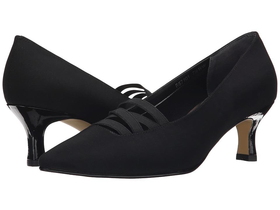 Rose Petals Pamela Black Micro/Patent/Gore Womens Shoes