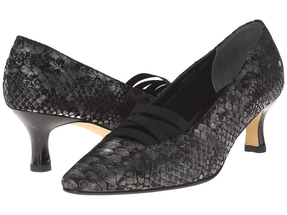 Rose Petals - Pamela BlackSilver Belly SnakeBlack PatentGore Womens  Shoes $125.00 AT vintagedancer.com