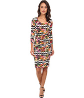 Nicole Miller - Sidewalk Fruit Stripe De-Quinn Dress