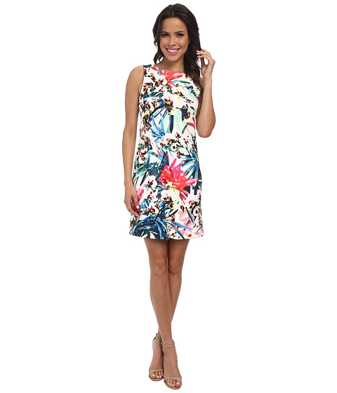 Nicole Miller Orchid Jungle Neoprene Shift Dress