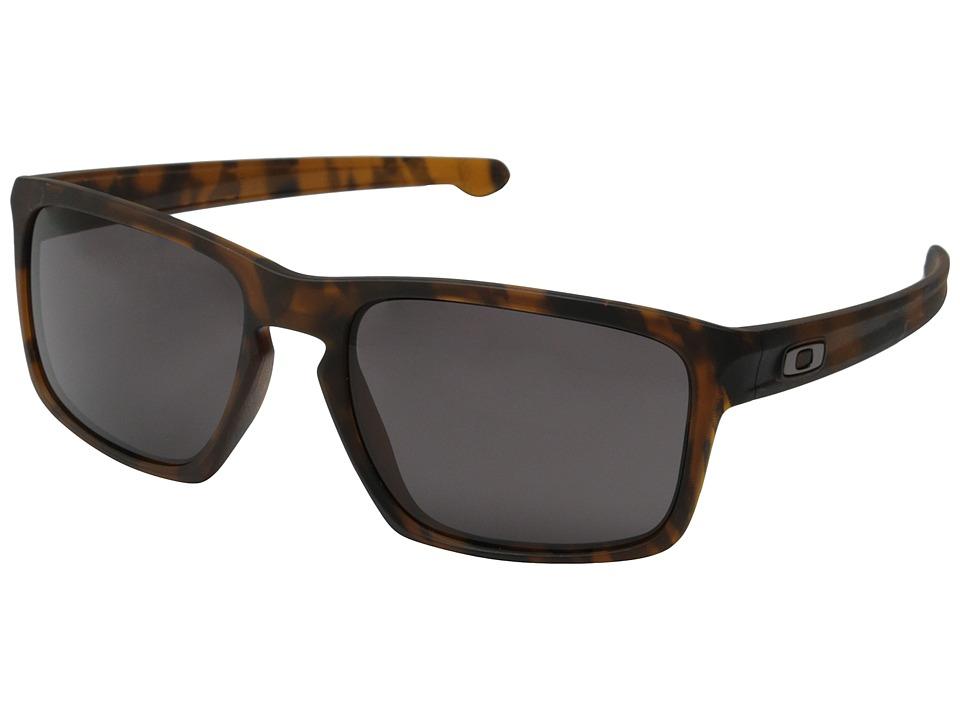 Oakley - Sliver (Matte Brown Tort/Warm Grey) Sport Sunglasses