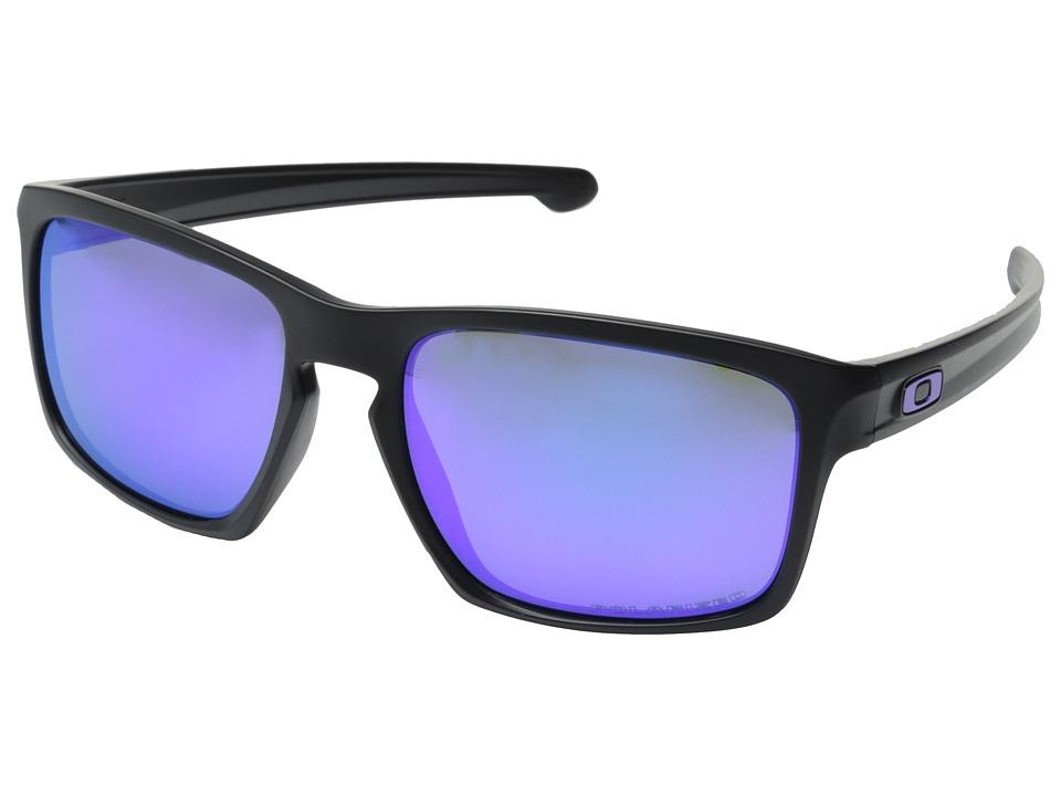 Oakley - Sliver (Matte Black/Violet Iridium Polarized) Sport Sunglasses