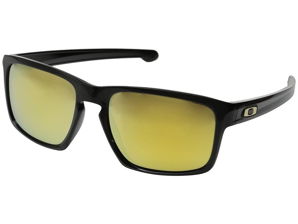 Oakley - Sliver (Polished Black/24K Iridium) Sport Sunglasses