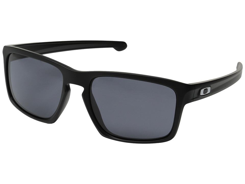Oakley - Sliver (Matte Black/Grey) Sport Sunglasses