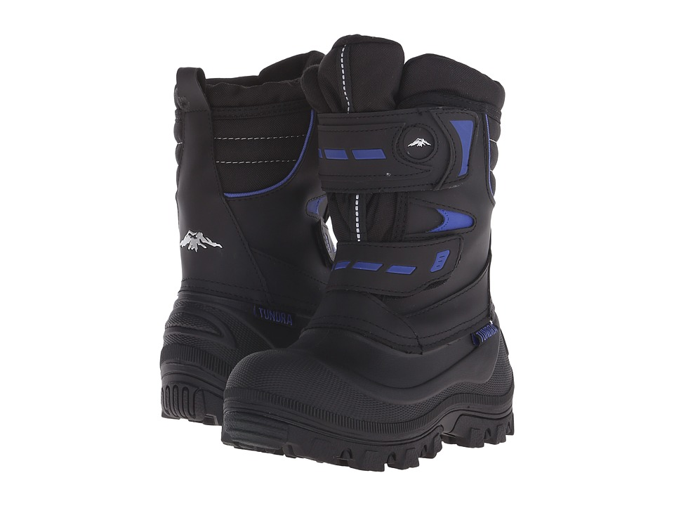 Tundra Boots Kids Hudson B Little Kid/Big Kid Black/Royal Boys Shoes