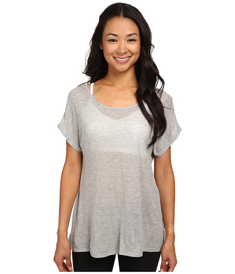 Beyond Yoga - Godet Back Tee (Light Heather) Women's T Shirt