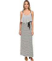 Brigitte Bailey - Knit Stripe Popover Maxi w/ Cage Back Dress