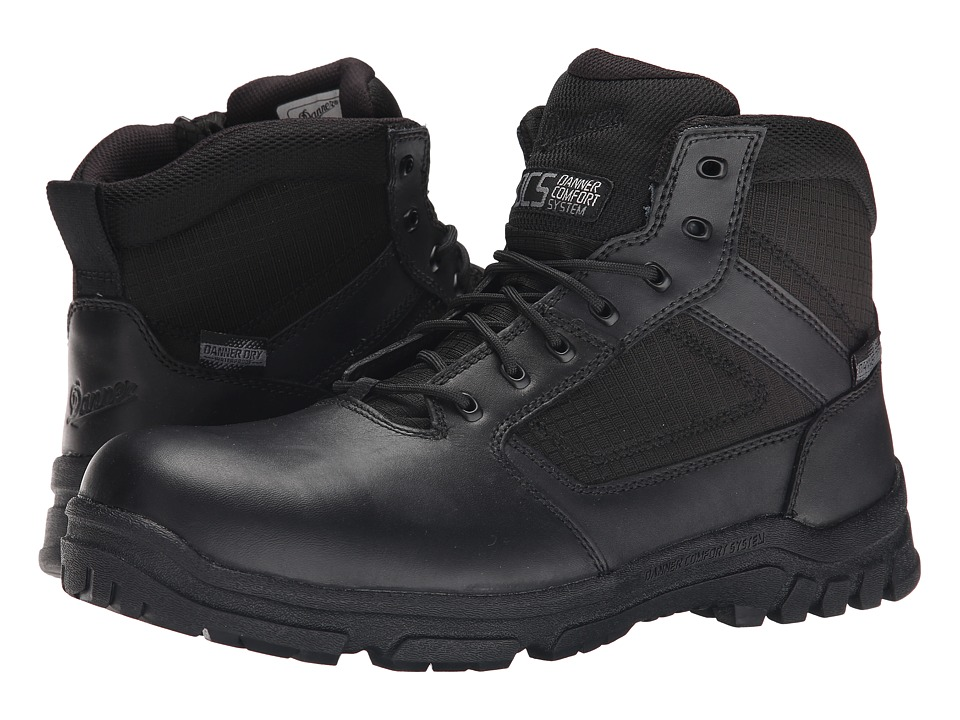 Danner - Lookout Side-Zip 5.5 (Black) Mens Work Boots