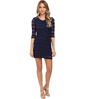 Brigitte Bailey - Lace 3/4 Sleeve Zip Back Mitered Front Dress