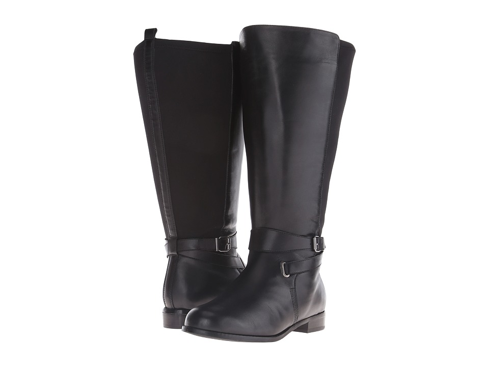 Rose Petals - Tamara Extra Wide Shaft Boot (Black Nappa/Black Stretch) Women's Boots