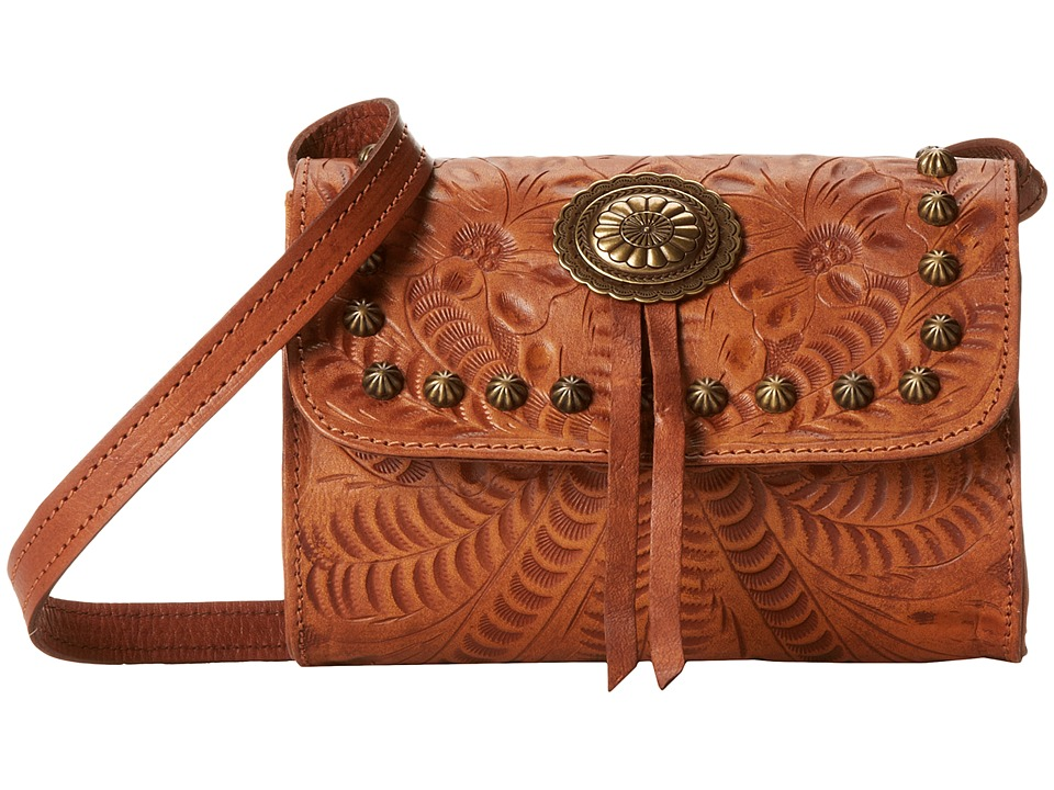 American West - Gameday Small Crossbody Bag (Golden Tan) Cross Body Handbags