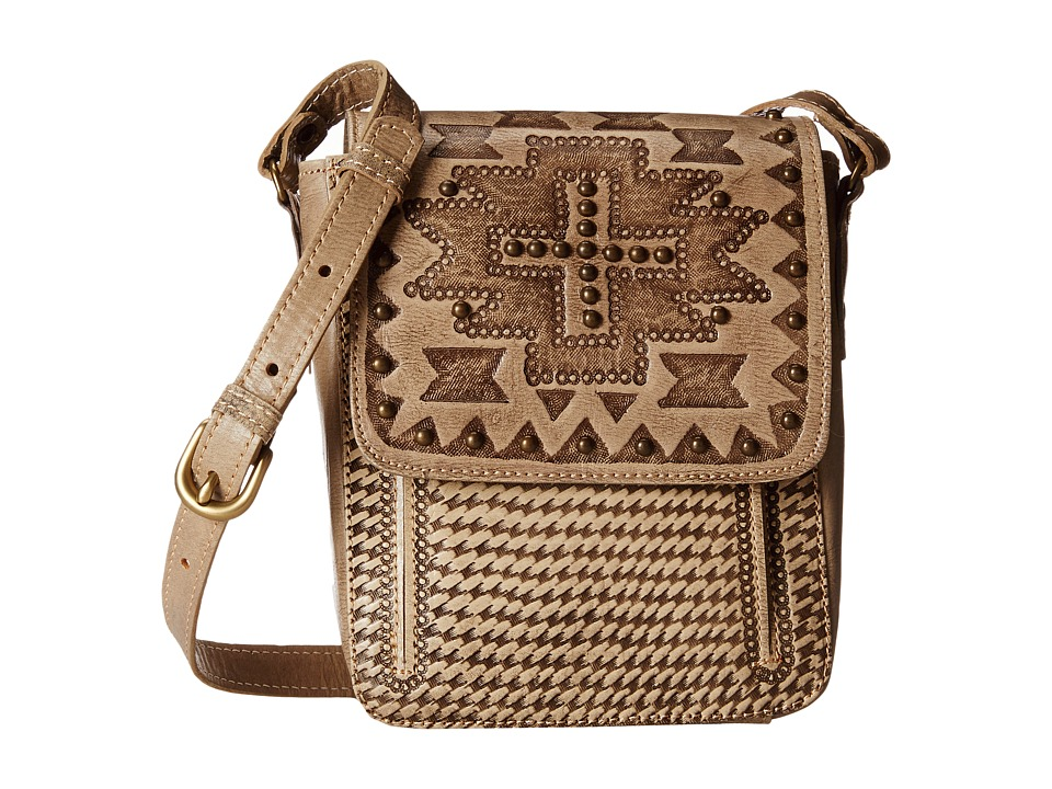 American West - Apache Crossbody Flap Bag (Sand) Cross Body Handbags