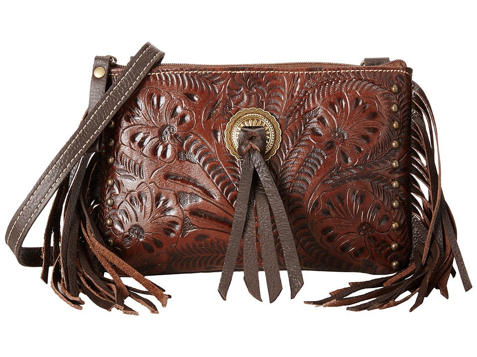 American West - Honky Tonk Days Fringe Crossbody (Earth Brown) Cross Body Handbags