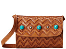 American West Gameday Small Crossbody Bag (Golden Tan/Turquoise)
