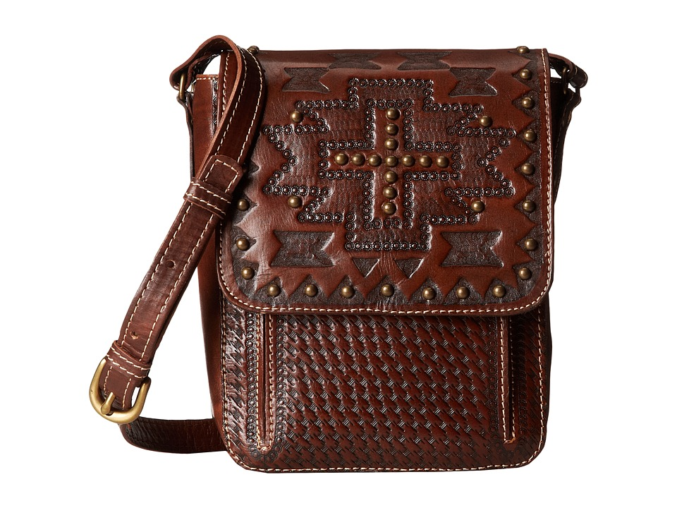 American West - Apache Crossbody Flap Bag (Earth Brown) Cross Body Handbags