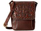 American West Apache Crossbody Flap Bag (Earth Brown)