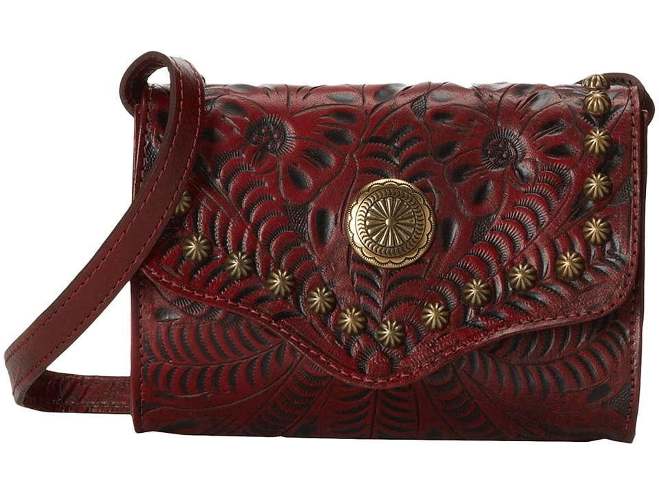 American West - Gameday Small Crossbody Bag (Distressed Crimson) Cross Body Handbags