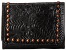 American West Shane Tri-Fold French Wallet (Black)