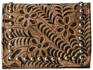 American West Shane Tri-Fold French Wallet (Distressed Charcoal Brown)