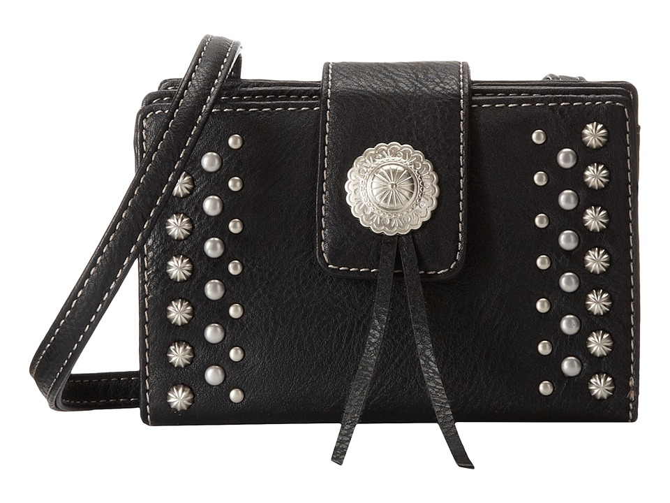 American West - Game Girl Stadium Crossbody (Black) Cross Body Handbags