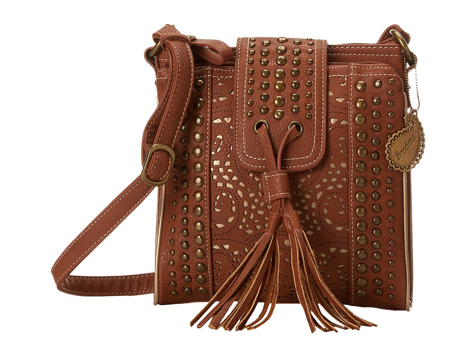 American West - Mesa Organized Crossbody (Tan/Gold) Cross Body Handbags